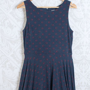 LOFT Dresses - LOFT Sleeveless Midi Swing Dress Navvy Blue Fall